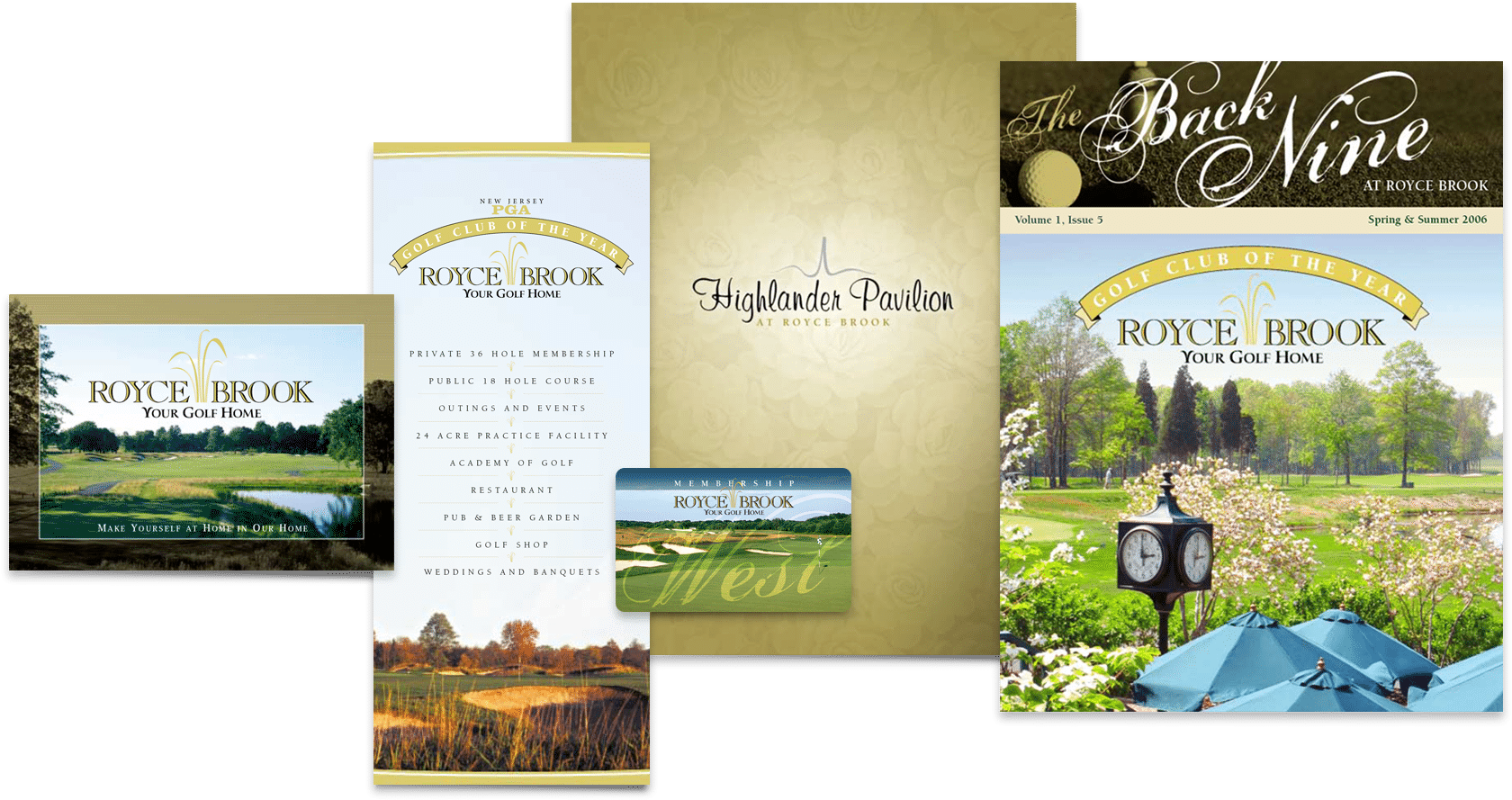 Collateral design examples by a NJ branding specialist