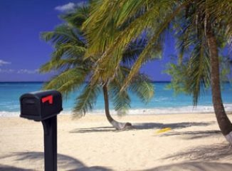 Delivering Direct Marketing Strategies to a mailbox on a beach