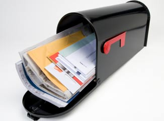 Direct Mail Delivery and Direct Response Rates symbolized by a stuffed mailbox