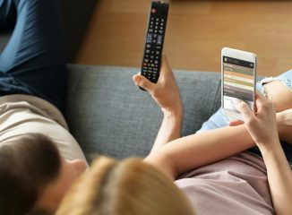 people use their phones while watching television, so include offline marketing.