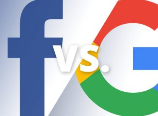 facebook ads vs google ads represented by their logos